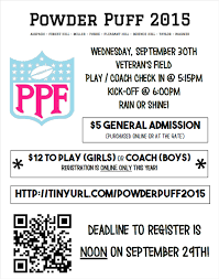 powder puff football flyers a nahs tradition powder puff football sept 30