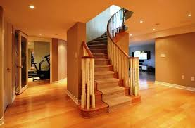 Open basement stairs Double Thickness Tread Open Basement Stairs Ideas Bamstudioco Open Basement Stairs Ideas America Underwater Decor Space On The