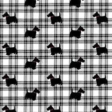 scottie dog tartan check gift wrap