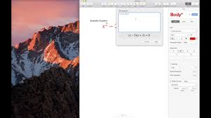 insert equation inline with text in apple pages