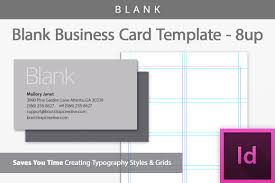 Blank Business Card Template Blank Business Card InDesign Template B Design Bundles 11