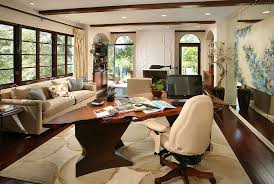 fabulous home office interior. Modern Home Office With Fabulous Live Edge Desk And Light-filled Interior [Design: A