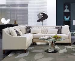 fulla linen tufted back rest modern contemporary left facing sectional sofa in alternate view