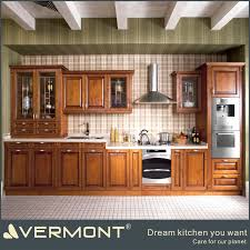 American Style Luxury Solid Oak Wood Kitchen Cabinets Imported From