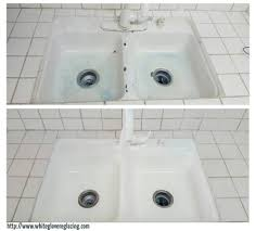 Before And After Photos Of NYC Reglazing Services - Reglaze kitchen sink