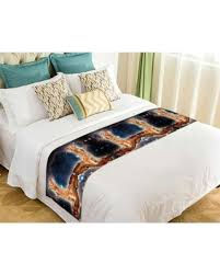 Hot Sale: GCKG <b>Funny Bacon Cat in</b> Space Pattern Bed Runner ...
