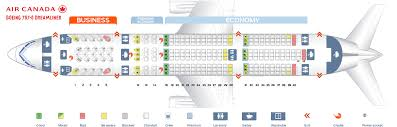 Boeing 787 8 Dreamliner Seating Chart Seat Map Boeing 787 8 Dreamliner Air Canada Best Seats In Plane
