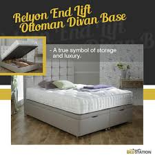 give your bedroom adequate storage space with this relyon end lift ottoman divan base a adequate storage space