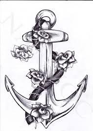 Anchor Tattoo At Kathleen S S Lemcke принты морское тату якорь Y