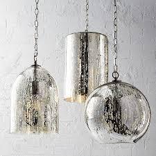 mercury glass globe pendant silver