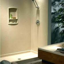 shower kits kit base gorgeous full swanstone pan drain installation walls bathroom wonderful solid surfa