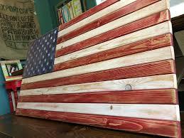 Distressed American Flag Decor Rustic Decor American Flag Office