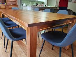 solid timber blackwood dining table black wood2