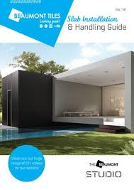 Slab Installation And Handling Guide Booklet By Beaumont