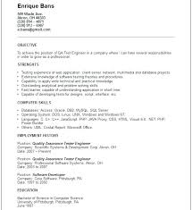 Entry Level Quality Engineer Resume Twnctry Resume Format Printable