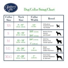 Collar Size Chart Dog Collars And Cat Collars Size Charts