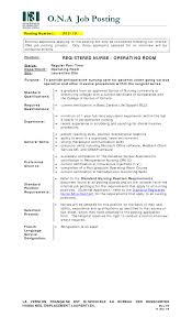 Operating Room Nurse Resume Cover Letter Operating Nurse Sample Resume Shalomhouseus 17