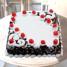 Buy One Kg Square Black Forest Cake Online Get Same Day Mid