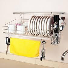 304 stainless steel dish rack wall rack