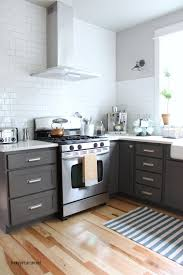 Dark Gray Kitchen Cabinets Kitchen Cabinet Colors Before After The Inspired Room