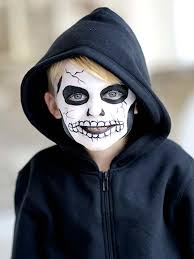 kids face paint tutorial skeleton