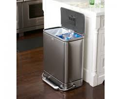 Kitchen Garbage Can Nice Metal Kitchen Garbage Can Simplehuman 55l Stainless Steel