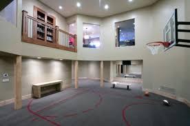 Basketball Court In A Basement (via houzz)