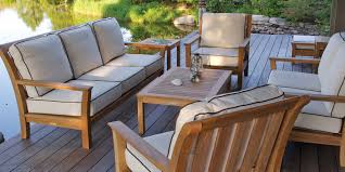 patio furniture. Patio Outdoor Furniture Steak Wood With Water Proof Fabric