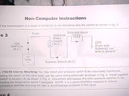 automatic tranny questions page 1 the vacumn switch will cut out the lock up if you need more gear for like going up a hill more throttle less vac im going to try this route