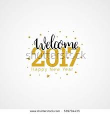 flyers numbers welcome 2017 creative numbers happy new stock photo photo vector