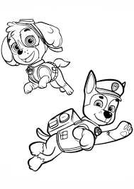 Chase And Skye Coloring Page Free Printable Coloring Pages