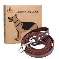 com fairwin brown 6ft 5ft genuine leather dog leash leads rope for large medium small dogs training walking rivet 5 8 x 5 6 foot fairwin pet