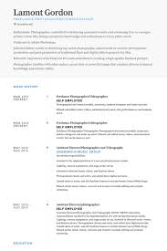 Freelance Photographer Resume Delectable Freelance Photographer Resume Samples VisualCV Resume Samples