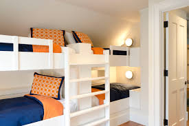 built in bunk bedroom traditional amazing ideas with built in furniture industrial sconce bunk bed lighting ideas