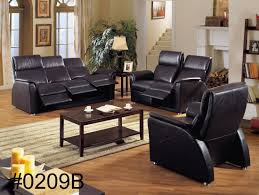 Leather Reclining Living Room Sets Furniture Genuine Leather Sofa For Excellent Living Room Sofas
