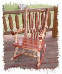 astonishing pictures of log rocking chair marvelous outdoor rustic furniture for front porch decoration with