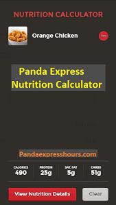 panda express nutrition panda express nutrition calculator dels