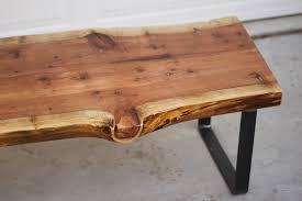 wood metal coffee table log