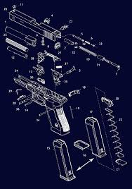 Glock Pistol Schematic Exploaded Gun Diagrams Gun Parts