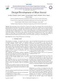Blast Freezer Design Manual Pdf Design Development Of Blast Freezer
