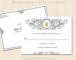 Response Cards Size Printable Wedding Rsvp Postcard Template Editable Wedding