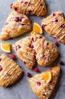 berry  almond    orange scones