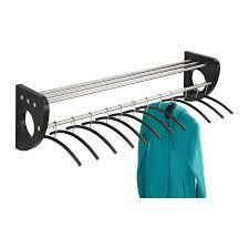 Black Wood Coat Rack Mode™ 100 Wood Wall Coat Rack With Hangers Safco Products 93