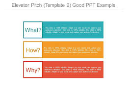 Elevator Pitch Template 2 Good Ppt Example Templates