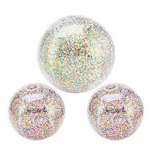 3 Pack Glitter Inflatable Beach Balls Outdoor ... - Amazon.com