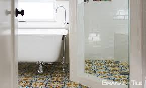 st tropez style cement tile for bathroom floor