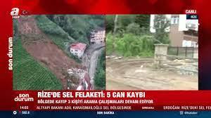 Sabah.com.tr - Rize'de yaşanan sel felaketi sonrası o görüntüler! Kayıp 3  kişiyi arama çalışmaları devam ediyor
