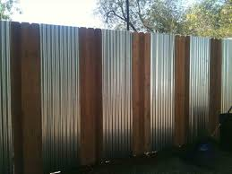 corrugated steel and wood fence rug designs