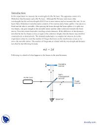 Wavelength Of Laser Light Formula Wavelength Measurement Of He Ne Laser Physics Lab Report