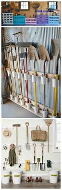 hanging garden tools in a plastic shed 11 garden tool racks you can easily make organizing